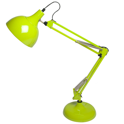 lime green desk lamp. Black Bedroom Furniture Sets. Home Design Ideas